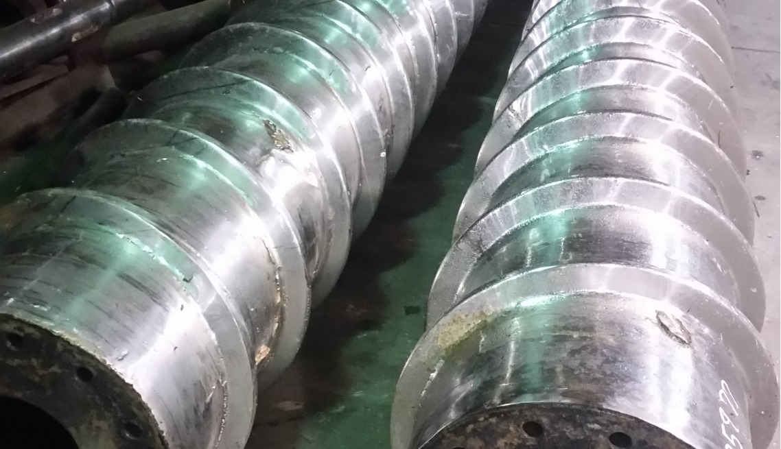 Twin Screw Press Shaft Rebuilding